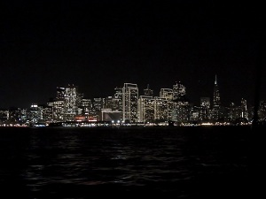 san francisco at night from the water